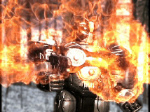Scene from Super Battlesuit X1 (Franz on fire). Copyright 2009 David A. Hamilton